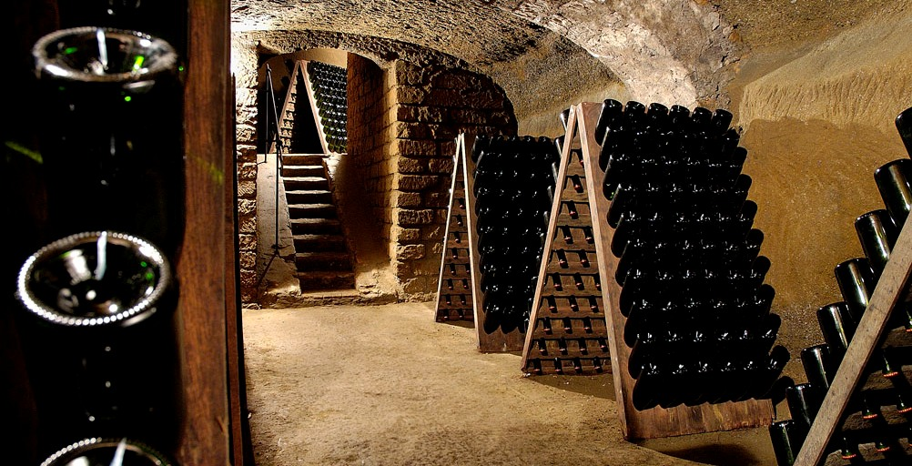 more spumante bottles in our ancient medieval cellars